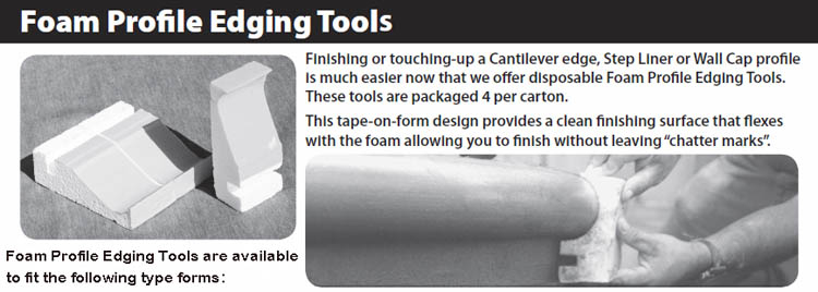Stegmeier Llc Foam Profile Edging Tools